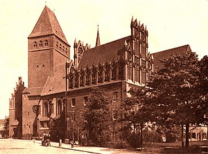 Märkisches Museum - Märkisches Museum seen from Wallstraße in 1908, the year it opened