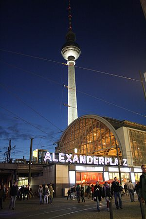 Berlin Alexanderplatz at dawn