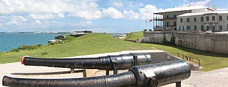 Royal Naval Dockyard, Bermuda - 6-inch guns overlook the Great Sound