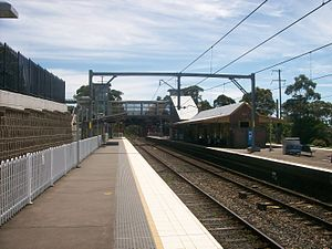 Berowra railway station - Northbound view from Platform 3 in November 2011