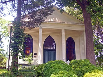 Bethesda Meeting House - Front elevation, 2008