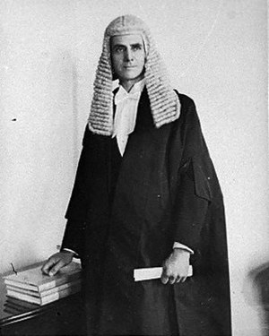 Bill Barnard - Barnard in Speakers robes, 1935.