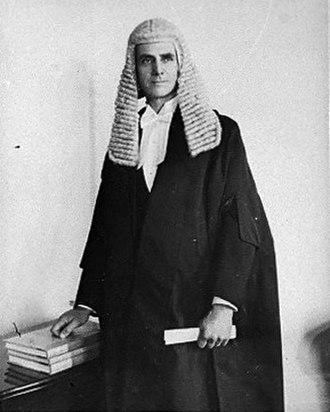 Bill Barnard - Barnard in Speakers robes, 1935.