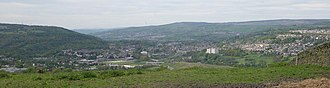 Bingley - Panoramic view over Bingley