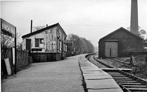 Birch Vale - The former Birch Vale railway station in 1965