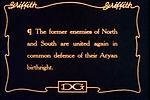 Un «carton» extrait de Naissance d'une nation de D.W. Griffith