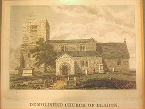 St Martin's Church, Bladon - Old St Martin's church, demolished in 1802