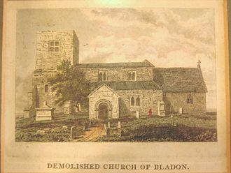 St Martin's Church, Bladon - Old St Martin's church, demolished in 1802