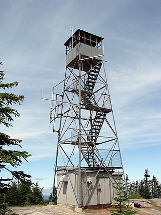 National Register of Historic Places listings in Hamilton County, New York - Image: Blue Mountain Fire Observation Tower
