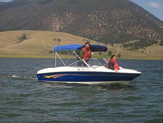 Eagle Nest, New Mexico - Boating on Eagle Nest Lake