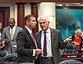 Bob Rommel and Michael Grant confer on the House floor.jpg