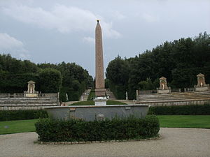 Boboli obelisk - View of obelisk from palace
