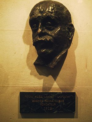 Boghos Nubar - Boghos Nubar's bust in Paris. Sculpture by Raffy Sarkissian, 1974.