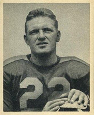 Frank Dancewicz - Dancewicz on a 1948 Bowman football card