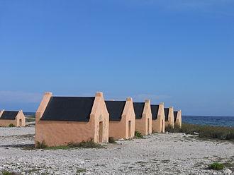 Bonaire - Slave huts.