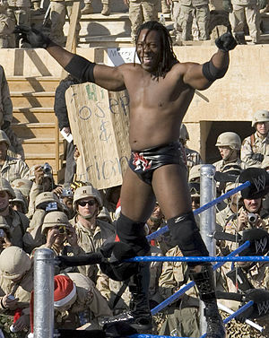 Booker T (wrestler) - Booker at Tribute to the Troops
