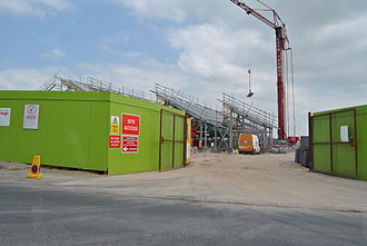 Hesketh Bank - Booths store under construction April 2010 on the railway station site