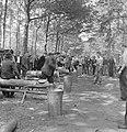 Bosbewerking, arbeiders, boomstammen, werkzaamheden, Bestanddeelnr 251-8143.jpg