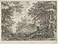 Boslandschap met twee jagers en een hond Rijksmuseum Amsterdam RP-P-OB-5184.jpg