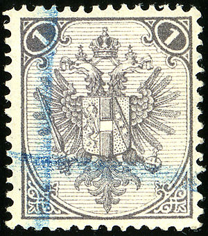 Postage stamps and postal history of Bosnia and Herzegovina - 1 kreuzer first issue 1879, lithographed