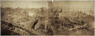Great Boston fire of 1872 - City ruins after the fire