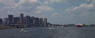 Boston Transportation Planning Review - Downtown Boston from Boston Harbor