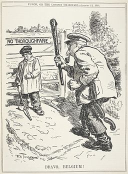 Bravo, Belgium! - Punch (12 August 1914), page 143 - BL