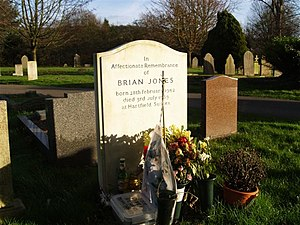 English: Grave of Brian Jones of the Rolling S...
