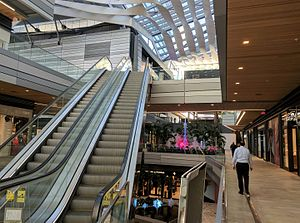 Brickell City Centre - The semi-enclosed retail concourse of the Brickell City Centre.