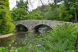 Bridge between Guilford and Hamilton Townships - Image: Bridge in Guilford Twp Frank Co PA 1