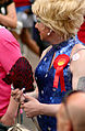 Brighton Pride Parade 2009 Labour Fan (3778705533).jpg