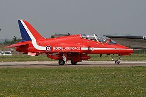 British Aerospace Hawk T.1 Red Arrows XX308, RHE Reims (Champagne), France PP1247122522.jpg