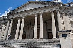 The portico of Lutyens' 1916 sede de la British School en Roma