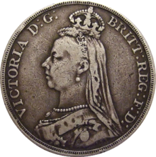 British Crown 1890 Obverse Png