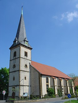 St. Georg Church in Brockhagen, a part of the municipality of Steinhagen