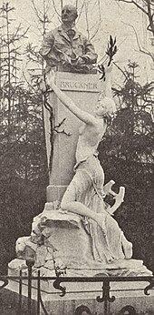 Viktor Tilgners Bruckner-Denkmal im Wiener Stadtpark, Zustand 1908 (Quelle: Wikimedia)