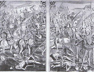 Military history of Denmark - Battle of Brunkeberg between Denmark and Sweden, 1471.