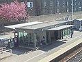 Building on the York bound platform seen from the station bridge, Harrogate railway station (19th April 2019).jpg