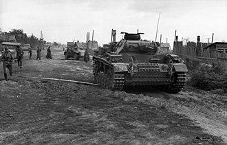 24th Panzer Division (Wehrmacht) - A Panzer III of the 24th Panzer Division in Stalingrad.