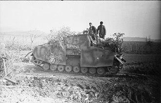 Brummbär - A Sturmpanzer in the Anzio-Nettuno area of Italy, March 1944.