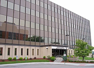 Bureau of the Public Debt - One of Public Debt's several buildings in downtown Parkersburg.