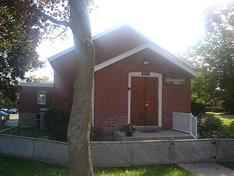 Women's Institutes - Former Buttonville Women's Institute Hall in Markham, Ontario, Canada. The WI closed in the 1980s, and the hall is now used as a daycare and a community centre.