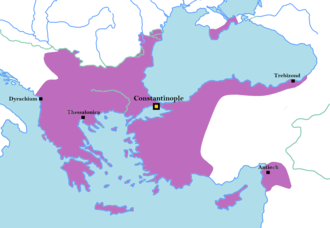 Byzantine Empire under the Komnenos dynasty - The Byzantine Empire during the reign of Manuel I Komnenos, ca. 1170