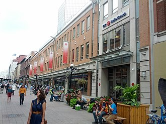 Canadian Broadcasting Corporation - The CBC Ottawa Broadcast Centre in Ottawa, seen from Sparks Street.