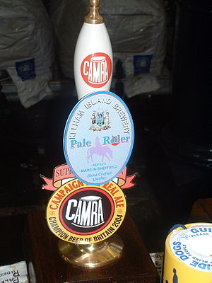 Champion Beer of Britain - Pump clip for the Champion Beer of Britain winner in 2004, Kelham Island Pale Rider
