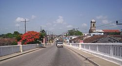 The Carretera Central across Santo Domingo