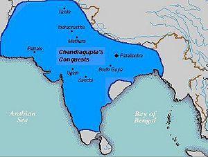 Ancestry of Chandragupta Maurya - Empire of Chandragupta in 300 BC