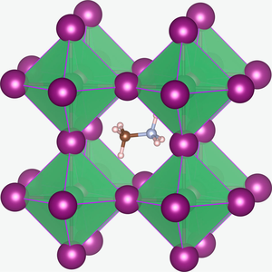 Perovskite (structure) - Image: CH3NH3Pb I3 structure