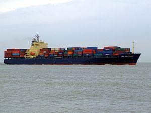 CMA CGM Turkey 9152856 p2 approaching Port of Rotterdam, Holland 04-Mar-2007.jpg