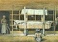 COLLECTIE TROPENMUSEUM Kleurenlitho getiteld Katafalk van het hoofd van Longpoetih TMnr 5795-29.jpg